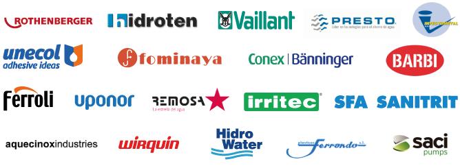 Logotipos de proveedores de material de fontanería para Tubesan