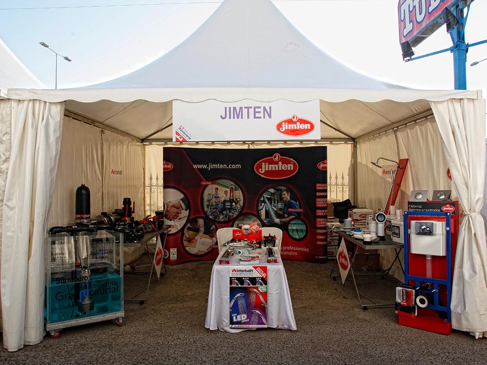 Stand de Jimten en la I Feria de la Fontanería de Jerez